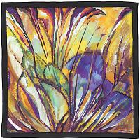 Болеро 10004-18, павлопосадский шейный платок (крепдешин) шелковый с подрубкой