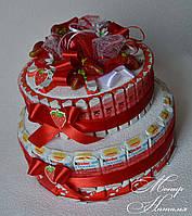 Торт из Киндер шоколадок. Оригинальный подарок подруге