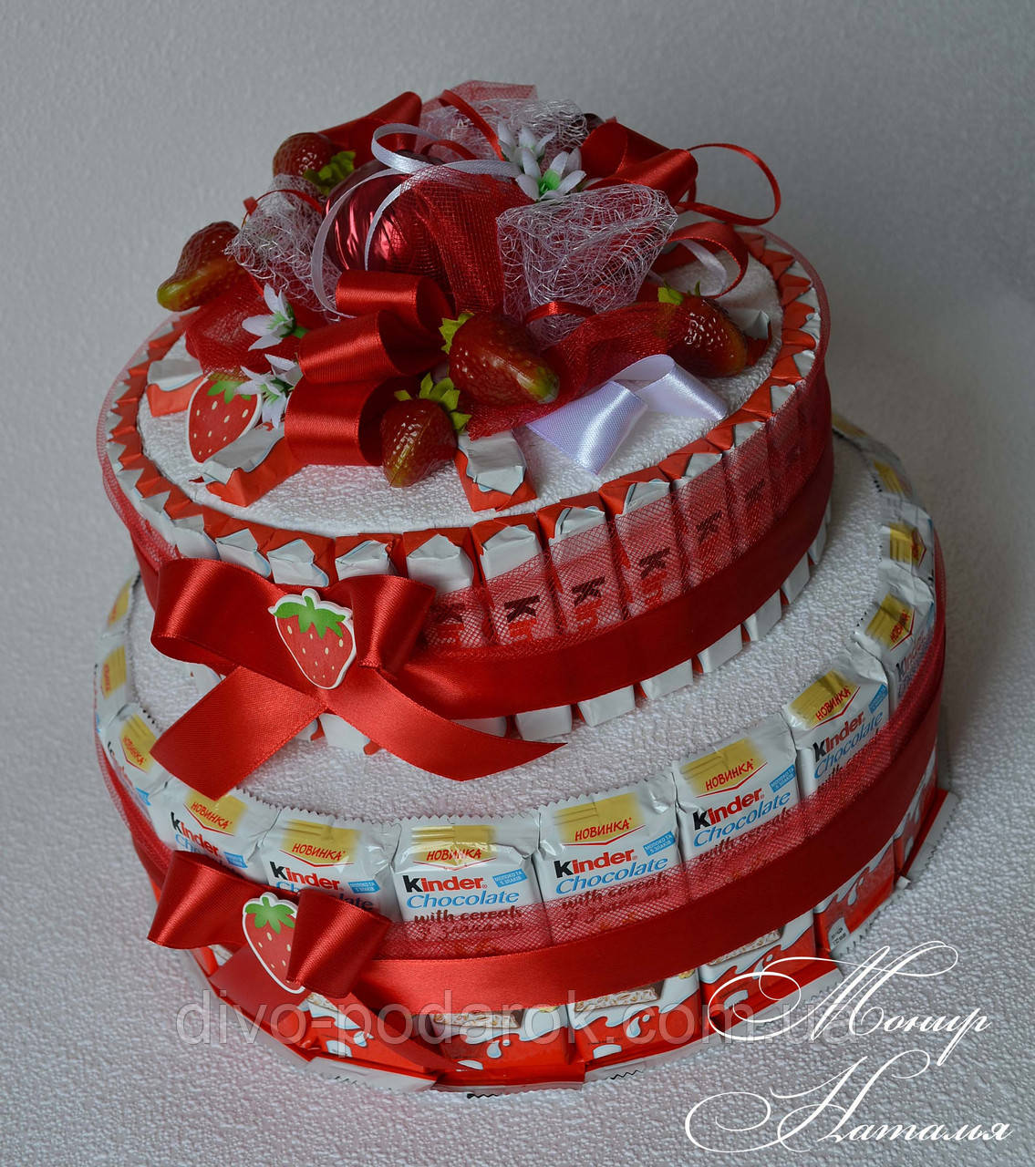 Как сделать торт из конфет своими руками для начинающих фото пошагово