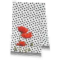 Огненный цветок 10051-0, павлопосадский шарф шелковый крепдешиновый с подрубкой