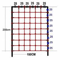 Гладиаторская сетка для лазанья 200 x 150 cм S-Hook для детских игровых комплексов