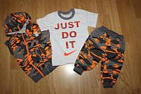 Летний костюм для детей ''JUST DO IT'', оранжевый