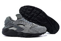 Кроссовки Nike Air Huarache Grey Серого цвета, кроссовки nike замшевые мужские