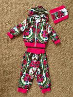 Детский костюм в стиле Матрешка с отделкой велюр
