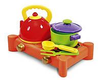 Набор детской посуды с газовой плитой 5 предметов Юника