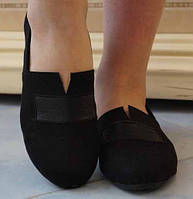 Оригинальные замшевые женские туфли на плоской подошве