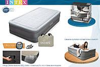 Надувная кровать со встроенным насосом 220В 99х191х46см Intex 64472