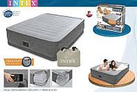 INTEX Надувная кровать Comfort-Plush Elevated Airbed 64414(203х153х46см)