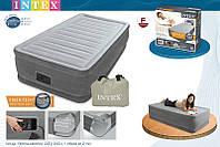 Односпальная надувная кровать Intex 67766(99х191х33) Comfort-Plush Mid Rais Airbed + встроенный электронасос