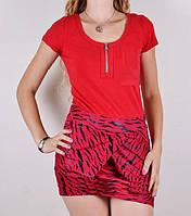 Платье с карманами красное L