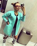 Модный женский кардиган с карманами свободный длинный рукав