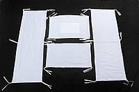 Мягкие защитные бортики в детскую кроватку из льна с хлопковой тканью