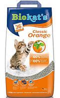 Наполнитель BioKat's (Биокетс) Orange С ароматом цитрусовых 10 кг