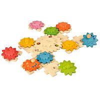 Развивающая игрушка Plan Тoys - Шестеренки и пазлы де-люкс