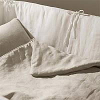Льняной пододеяльник в детскую кроватку 110х140