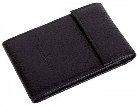 Комфортная кожаная обложка для карточек Vip Collection 13A flat черный