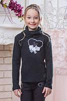 Красивый школьный свитер для девочки