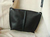 Стильная сумка- клатч  из натуральной  черной кожи