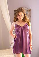Женская шелковая ночная рубашка, фото 1