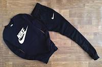 Утеплённый мужской Спортивный костюм черный Найк