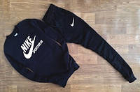 Утеплённый мужской Спортивный костюм черный Nike Sportswear
