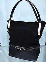Стильная женская замшевая сумка ROSE FAMILY RA 009 Black