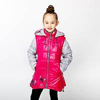 Весенняя куртка-жилет для девочки на рост 128-152 см