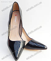 Женски лаковые туфли лодочки  каблук 9,5см