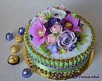 """Торт-шкатулка из конфет """"Нежность"""""""