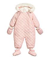 Зимний комбинезон для девочки H&M. 4-6 месяцев