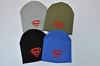 Детская трикотажная шапка Супермен