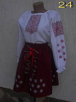 Стильное вышитое платье для девочки