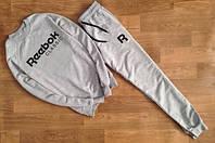 Утеплённый мужской Спортивный костюм серый Рибок классик серый