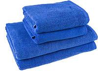 """Полотенце (50х90 см) махровое """"Отель"""" для лица и рук, синее"""