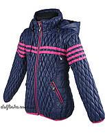 Куртка для девочек  демисизонная 5-10 лет цвет синий