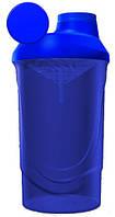 Шейкер для спортивного питания WAVE 600+350ML 3 отсека Power system синий