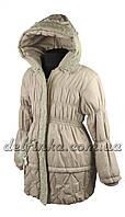 Пальто  для девочек   демисизонная 5-10 лет цвет бежево серый