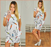 Платье туника с карманами модный стиль