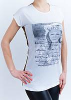 Нарядная женская футболка с гипюровой спинкой