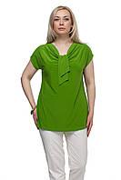 Женская блузка большого размера Галстук Лайм