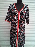 Летний турецкий женский халат.  большие размеры (60_68)