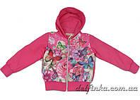 Ветровка на флисе  для девочек  3-7 лет цвет  розовый