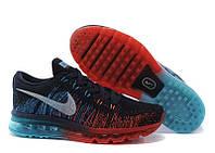 Кроссовки мужские Nike Flyknit Air Max Navy Red Оригинальные