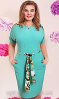 Красивые летние платья с пояском (в расцветках)
