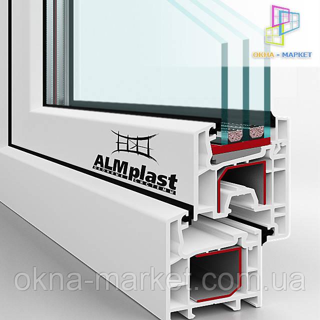 Дешевые окна ALMplast, профиль в разрезе. 098_7773149