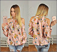 Блуза цветная с принтом