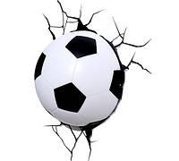Светильник Футбольный мяч 3D в стене