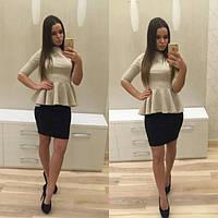 """Платье с баской """"Николет"""""""