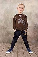Брюки для мальчика джинсового типа (синий)