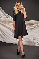 Женское свободное прямое платье с ассиметричным низом   Разные цвета